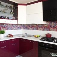 Современная яркая кухня